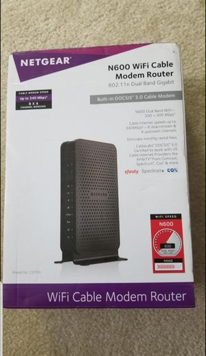 Netgear wifi cable modem rputer dual band for Sale in Dulles, VA