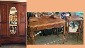 Antique Armoire, Desk, End Table for Sale in Peoria, AZ