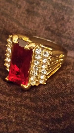 BIG Ring. Red stone for Sale in Harper Woods, MI