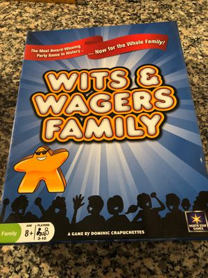 Wits and wagers family game board for Sale in El Paso, TX