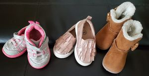 Baby Girl Shoes Size 4 and Boots Size 3 ** $3 each ** for Sale in Everett, WA