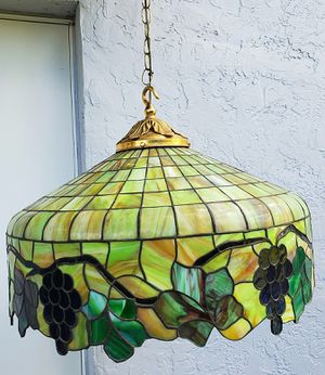 Large stained glass tiffany style chandelier for Sale in Davie, FL