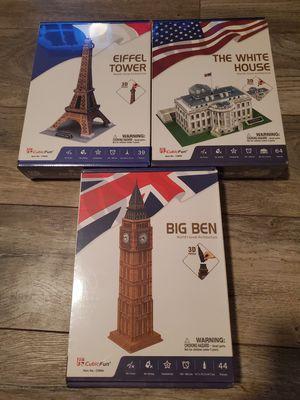 Cubicfun 3d Puzzles Set for Sale in Houston, TX