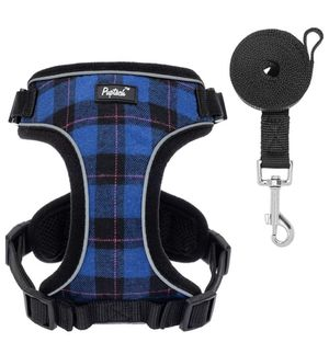 Blue Plaid XS Harness and Leash Set for Sale in Rancho Cucamonga, CA