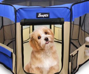 Pet Dog Playpens Jespet 61'' Portable Soft Dog Exercise Pen Kennel With Carry Bag For Puppy Cats Kittens Rabbits Indoor And Outdoor Use for Sale in East Windsor,  NJ