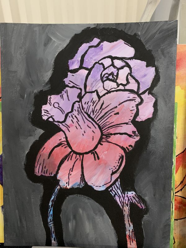Painting, for sale by artist. Floral
