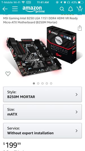 MSI gaming motherboard for Sale in Orlando, FL