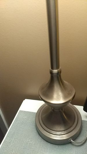 Two lamps for sale. Grey lamp shades that need some TLC for Sale in New York, NY