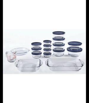 Anchor Hocking glass storage, bakeware, prep set 30 pcs for Sale in Miami, FL
