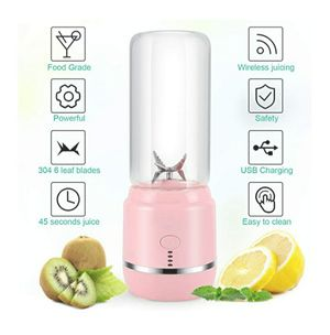 PORTABLE BLENDER MINI JUICER GLASS CUP USB RECHARGEABLE & SMOOTHIES 402ml FRUIT JUICE MIXER PINK for Sale in Los Angeles, CA