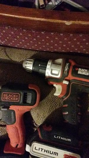 Pair of 20 v black and decker cordless drills for Sale in Evansville, IN