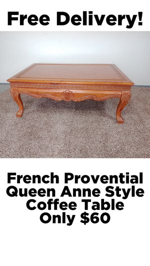 French Provential Queen Anne Style Living Room Cocktail Coffee Table w/ Free Delivery! for Sale in Glendale, AZ