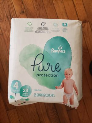 3 PACKAGES DIAPERS PAMPERS PURE SIZE 4 for Sale in Silver Spring, MD