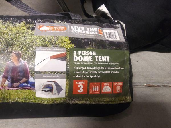 Carribou Wood Burning Camp Stove & Ozark Trail 3-Man Dome Tent Bundle