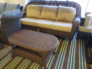 New outdoor patio furniture sofa and table sunbrella fabric tax included for Sale in Hayward, CA
