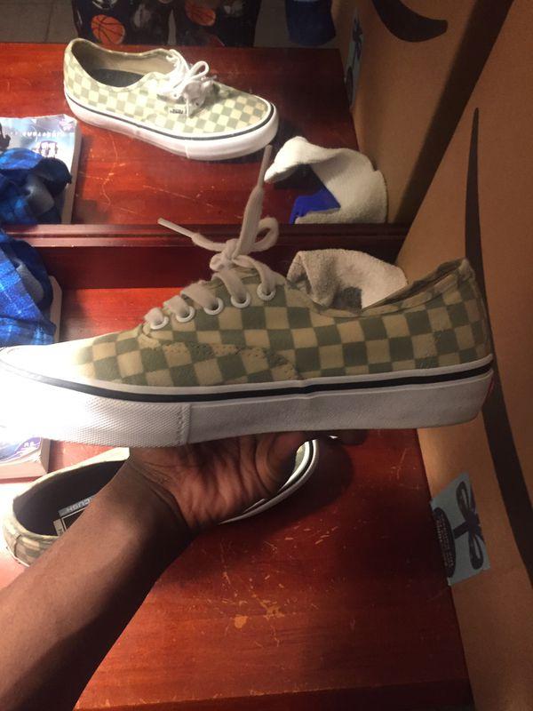 Vans checker print