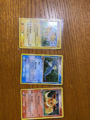 Eeveeloution pop 3 holo pokemon card lot for Sale in Knightdale, NC