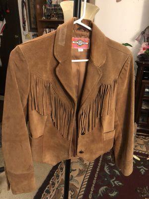 Leather fringe jacket for Sale in Spokane Valley, WA