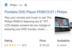 Phillips portable tv and DVD player for Sale in Knoxville, TN