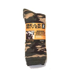 Bear River Workwear Work Socks ( All Weather Crew) 2 Pairs for Sale in Miami, FL