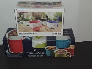 2 sets of soup mugs and covered mugs for Sale in Norwich, CT