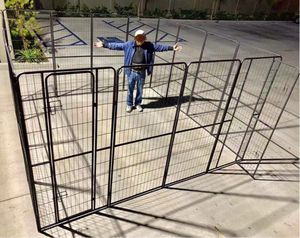 New 72 inch tall x 32 inches wide each panel x 16 panels heavy duty exercise playpen fence safety gate dog cage crate kennel expandable fence perrera for Sale in Baldwin Park, CA