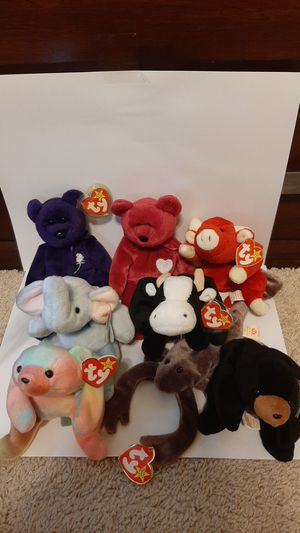 RARE set beanie babies 1990s retired for Sale in Garland, TX