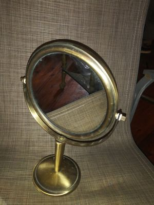Antique Brass 12 Inch Makeup Mirror Double Sided Standing Vanity Magnifier Mirror for Sale in Clarksville, TN