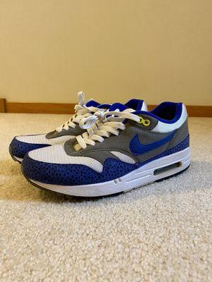 2009 Nike Air Max 1 Blue Safari Mens 9 for Sale in Lynnwood, WA