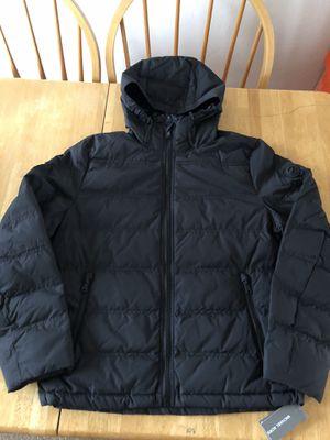 Brand new Michael Kors MK down blend light puffer jacket triple black full zip men's medium M for Sale in La Mesa, CA