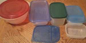 5 Clear Rubbermaid Ziploc Tupperware Food Storage Bin Container Lot for Sale in Queens, NY