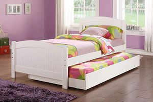 Twin Bed Frame with Trundle, White , F9218 for Sale in Norwalk, CA