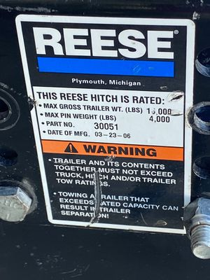 Reese 5th Wheel hitch for Sale in Chandler, AZ