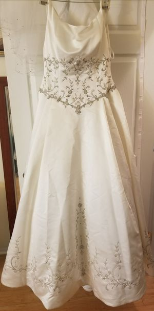 Beautiful embroidered wedding dress for Sale in McLean, VA