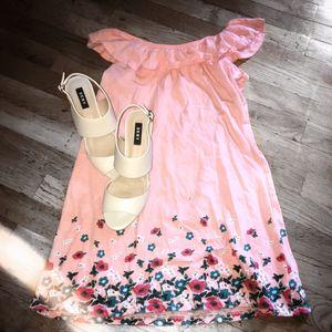 PRE OWNED Old Navy Pink Off Shoulder Dress L (10-12) for Sale in Tucker, GA