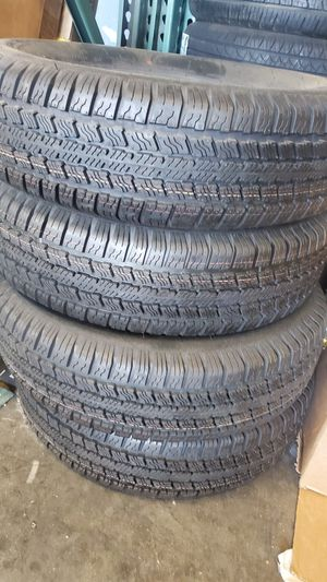 Four new trailer tires 205 75 14 for Sale in Las Vegas, NV