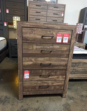 RUSTIC BROWN FINISH CHEST, 5 DRAWERS CHEST, SKU#1534-CHEST. for Sale in Santa Ana, CA
