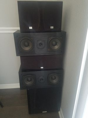 Onkyo Home Theater Speakers (5) for Sale in Raleigh, NC