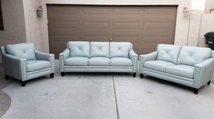 Leather Living Room Set for Sale in Chandler, AZ