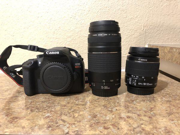 Canon Rebel T6 W/ Lenses + Bag