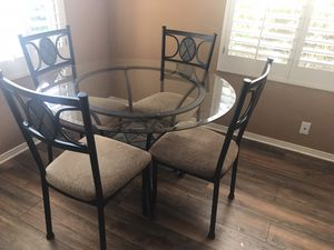 Glass top kitchen dining table for Sale in Cave Creek, AZ