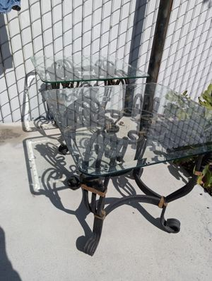 Glass end tables for Sale in Parlier, CA