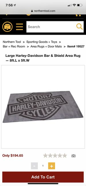 Harley Davidson Rug for Sale in Atlanta, GA