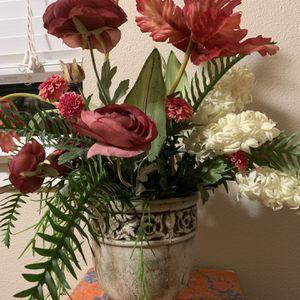 Fake Flower in Vintage Vase/Pot for Sale in Hillsboro, OR