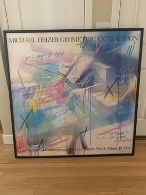 Michael Heizer Geometric Extraction Poster & Frame for Sale in Gardena, CA