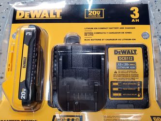 DEWALT 20V MAX Battery Pack with Charger, 3-Ah (DCB230C) for Sale in Orange,  CA