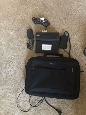Laptop docking station, mouse, cord to connect screens and bag for Sale in Glendale, AZ