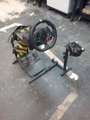 Logitech g29 force feedback wheel with shifter and stand for Sale in Oakland Park, FL