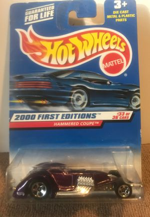 HOT WHEELS 2000 FIRST EDITIONS HAMMERED COUPE #93 PURPLE SILVER 5 SPOKE 33 OF 36 for Sale in PA, US