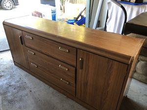 Wooden dresser, armoire, and headboard for Sale in El Cerrito, CA